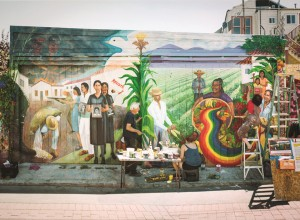 """Culture Contains the Seeds of Resistance that Blossoms into the Flower of Liberation,"" Balmy Alley Mural © Miranda Bergman and O'Brien Thiele. Photo credit: Jeremy Blakeslee."