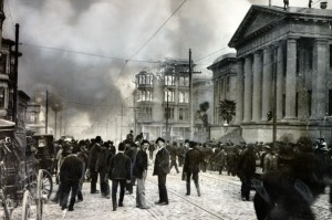 Old Mint During Fire