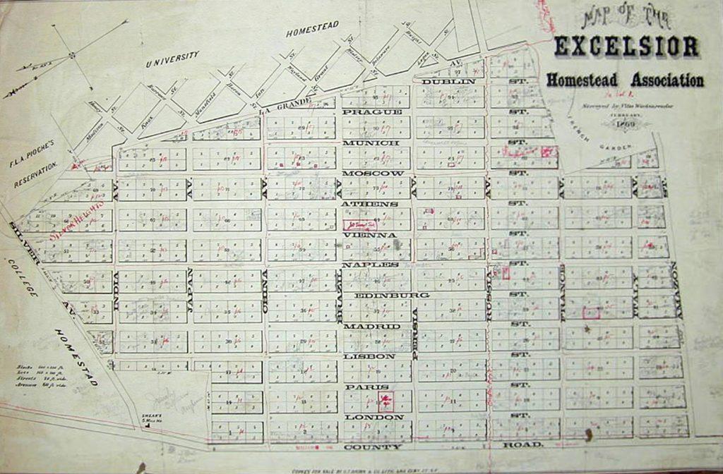 1869 Excelsior map