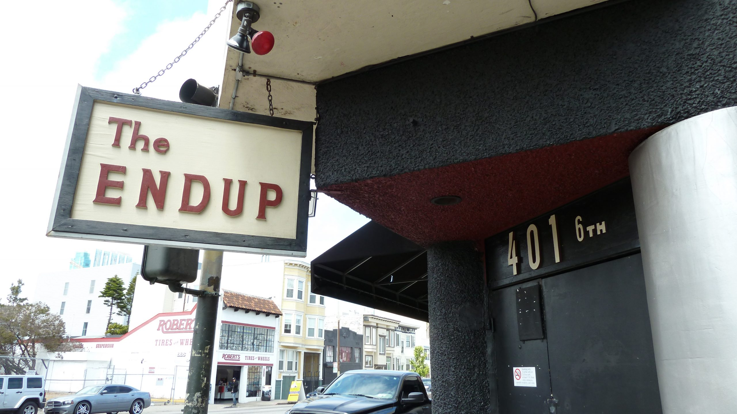The Endup exterior with sign