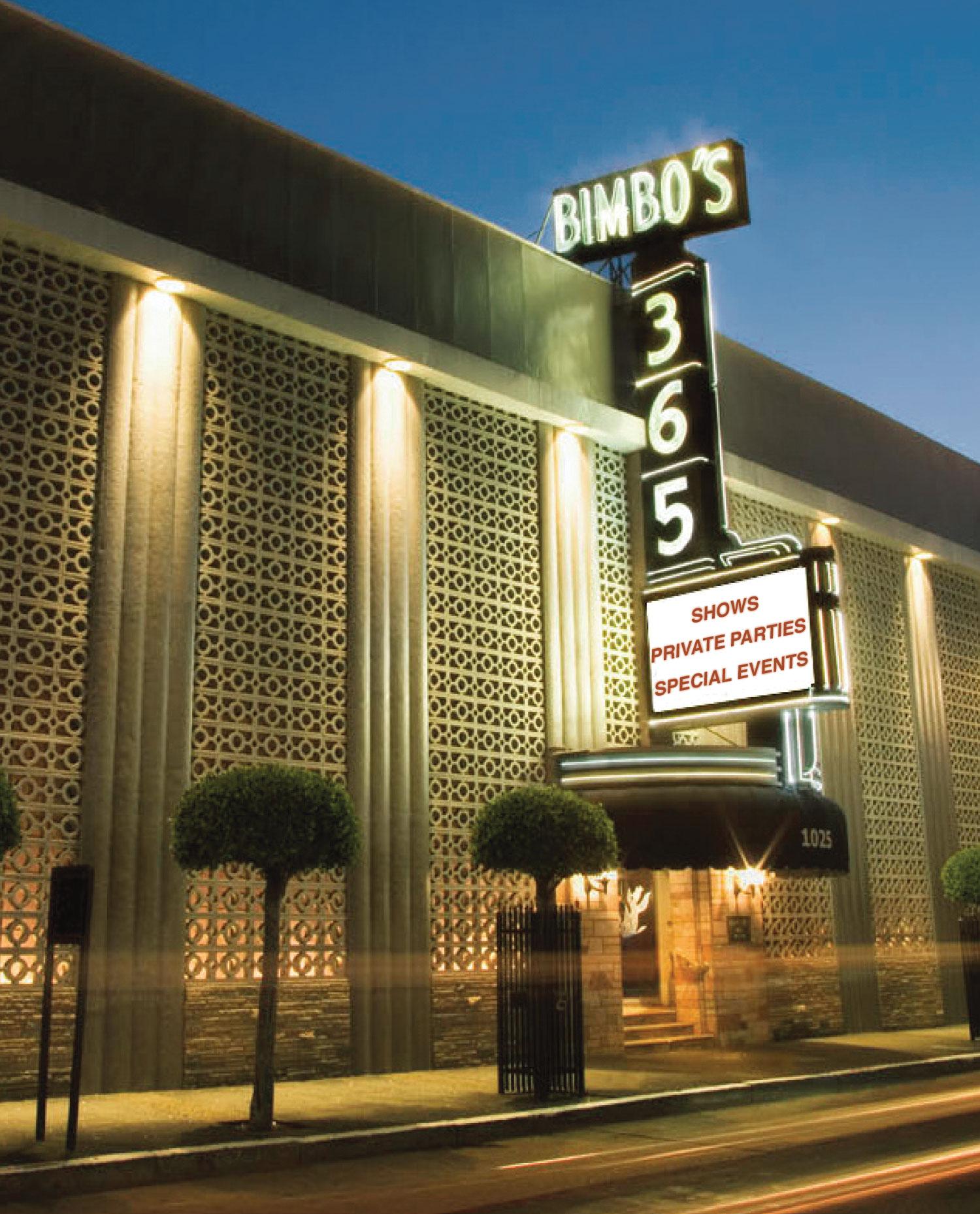Bimbo's Exterior