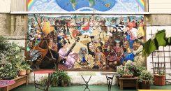 cafe international mural